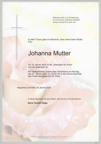Johanna Mutter