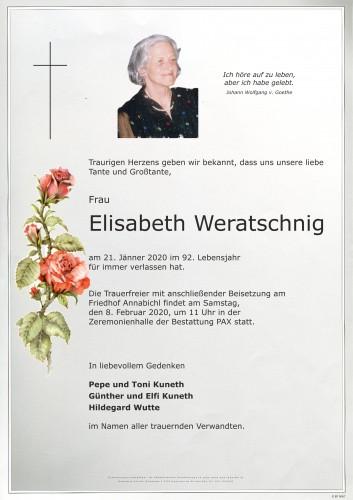 Elisabeth Weratschnig