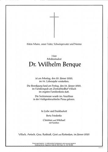 MR Dr. Wilhelm Benque