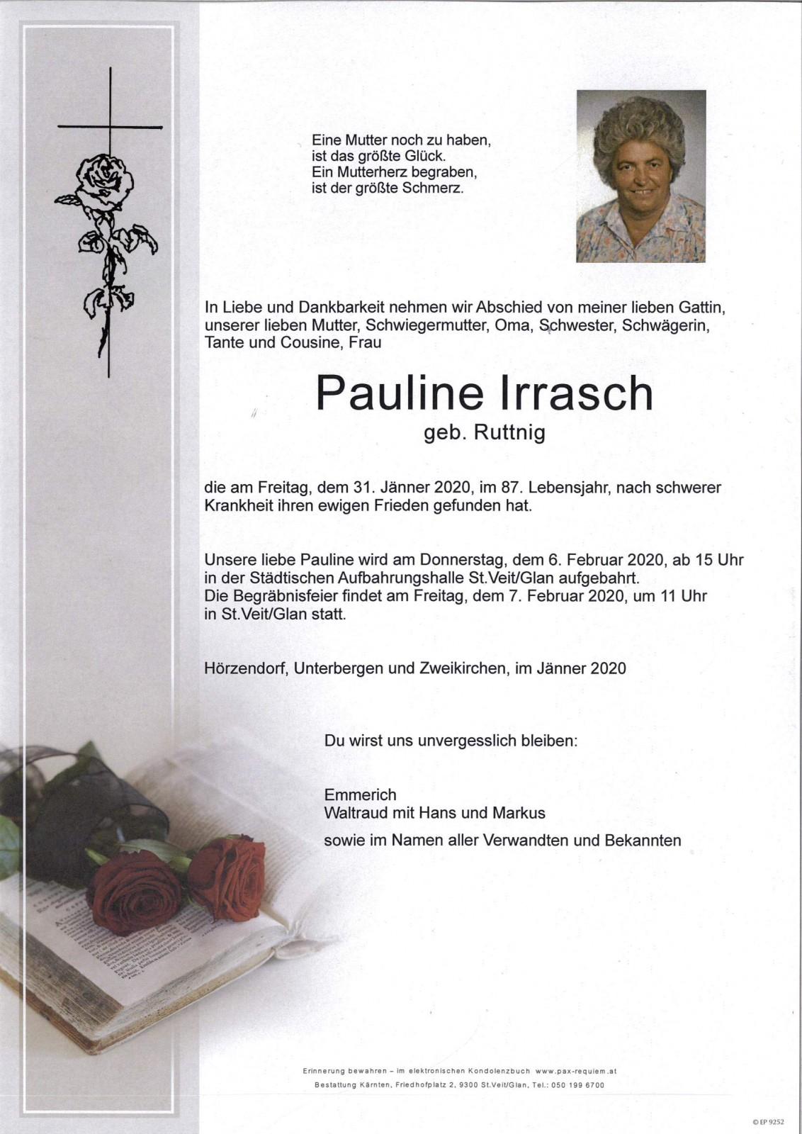 Parte für Pauline Irrasch pax · requiem