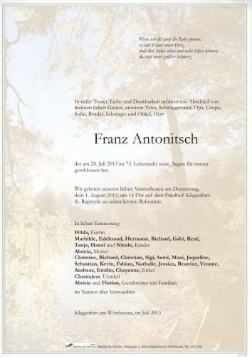Franz Antonitsch