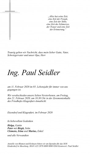 Ing. Paul Seidler
