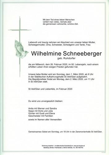 Wilhelmine Schneeberger
