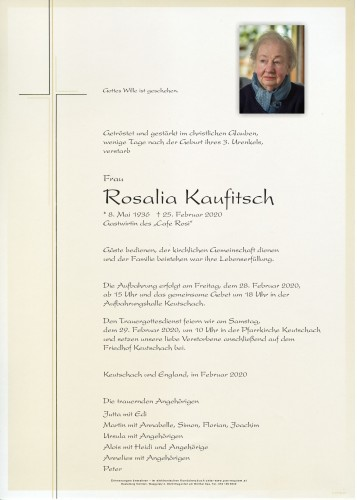 Rosalia Kaufitsch