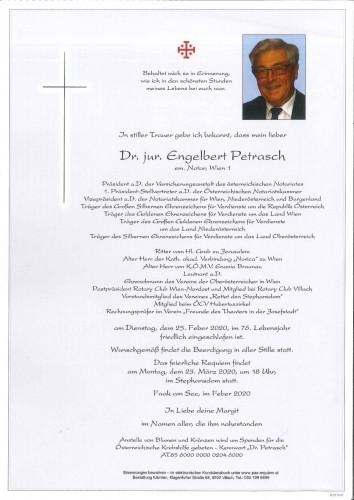 Dr. jur. Engelbert Petrasch