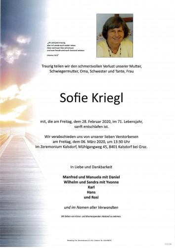 Sofie Kriegl