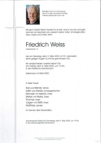 Friedrich Weiss
