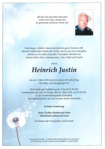 Heinrich Justin