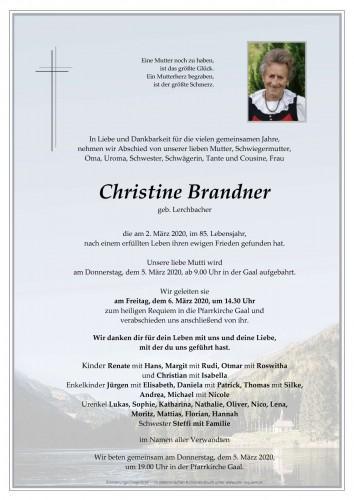 Christine Brandner