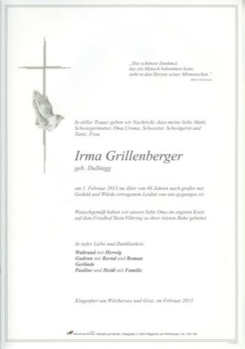 GRILLENBERGER Irma