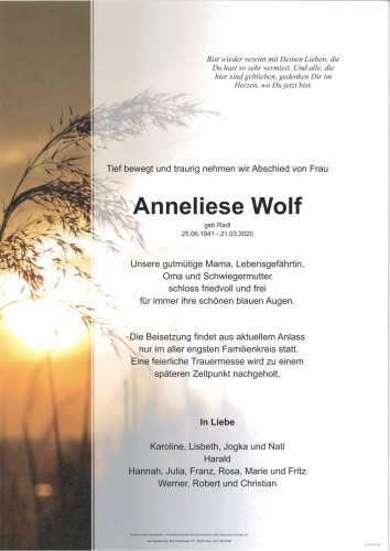Anneliese Wolf