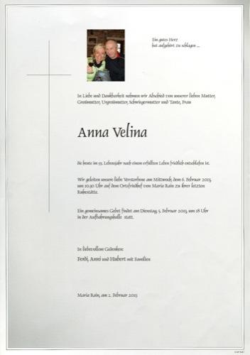 VELINA Anna