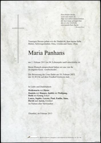 PANHANS Maria