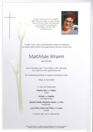 Mathilde Wrann geb. Schröder