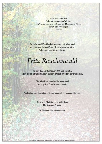 Fritz Rauchenwald