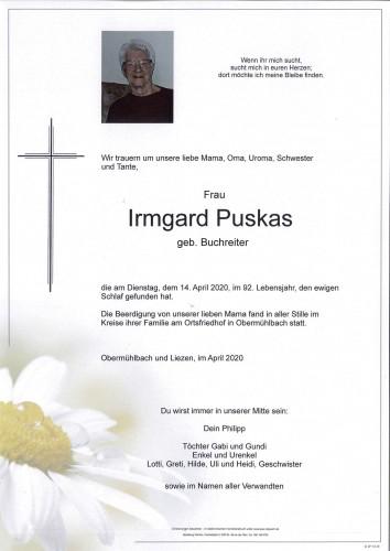 Irmgard Puskas  geb. Buchreiter