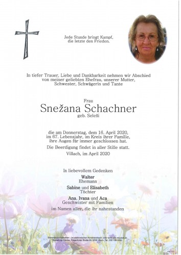 Snezana Schachner geb. Selesi