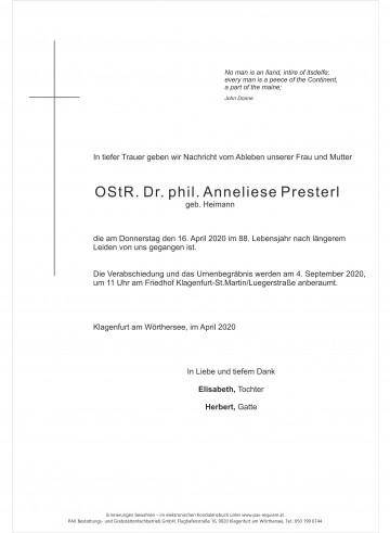 OStR. Dr. phil. Annelise Presterl