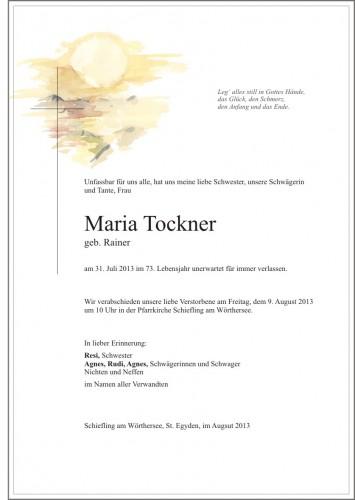 Maria Tockner