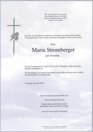 Maria Stromberger geb. Posarnig