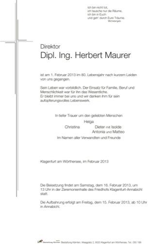 MAURER Herbert