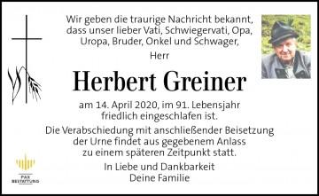 Herbert Greiner