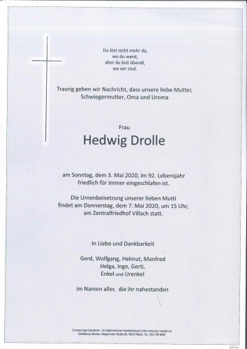 Hedwig Drolle