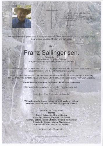 Franz Sallinger sen.