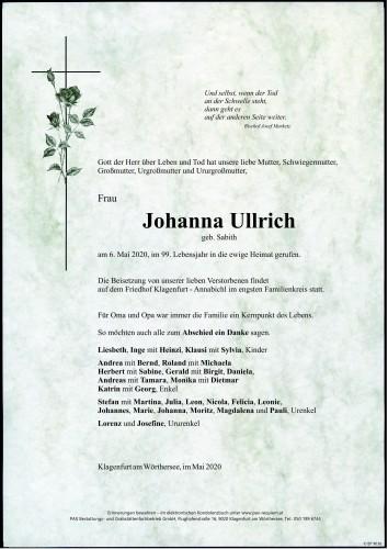 Maria Johanna Ullrich