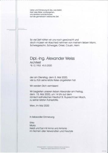Arch. DI Alexander Weiss