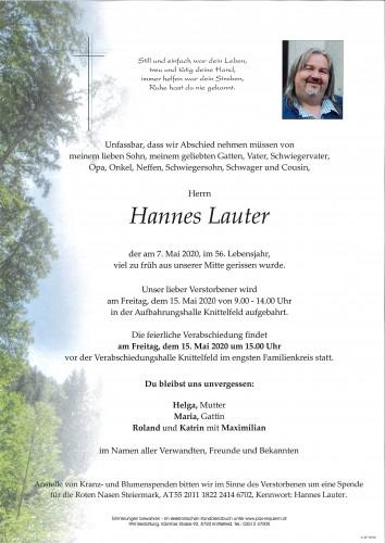 Hannes Lauter