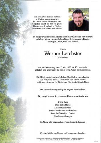 Werner Lerchster