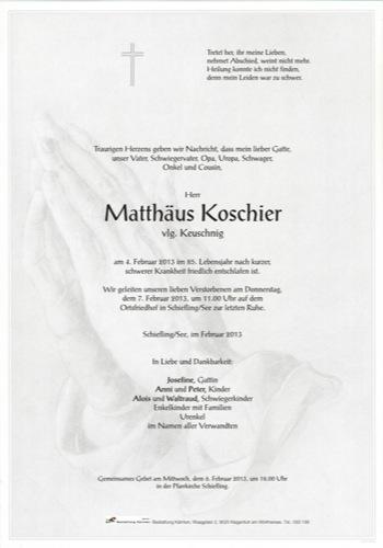 KOSCHIER Matthäus