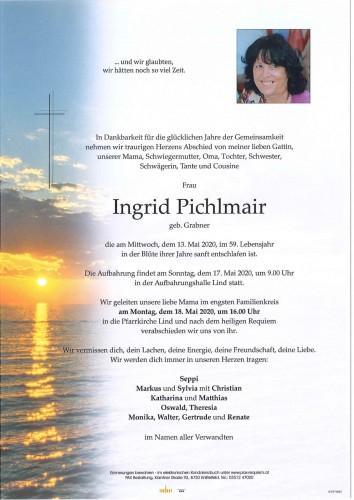 Ingrid Pichlmair geb. Grabner