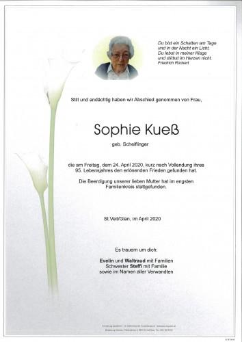 Sophie Kueß geb. Scheiflinger