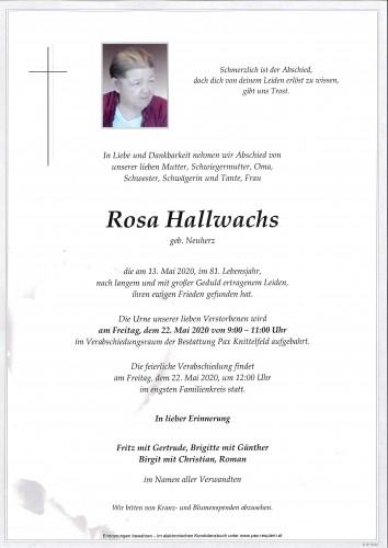 Rosa Hallwachs