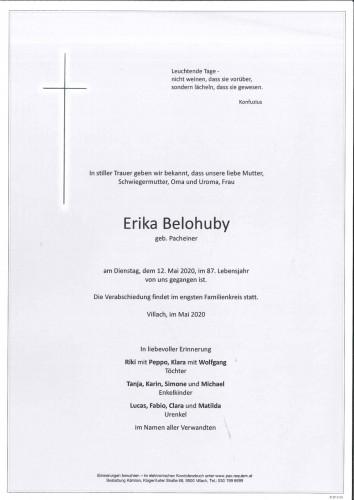Erika Belohuby geb. Pacheiner