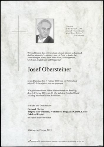 OBERSTEINER  Josef