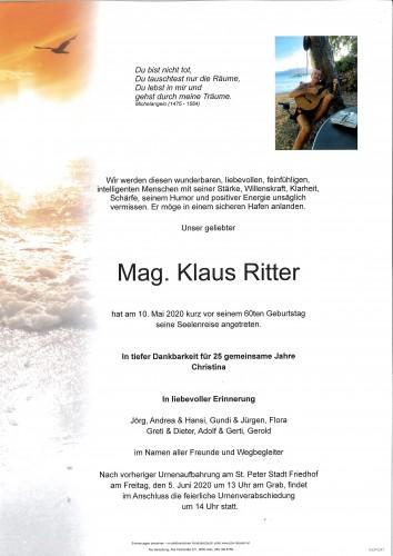 Mag. Klaus Ritter
