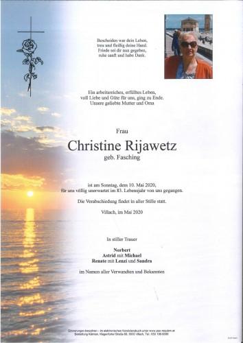 Christine Rijawetz geb. Fasching