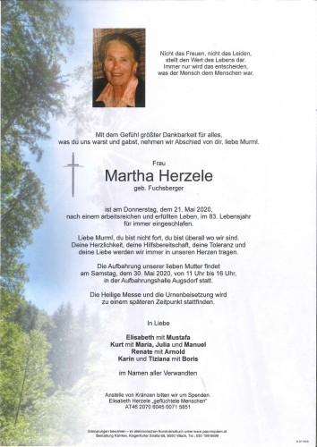 Martha Herzele geb. Fuchsberger
