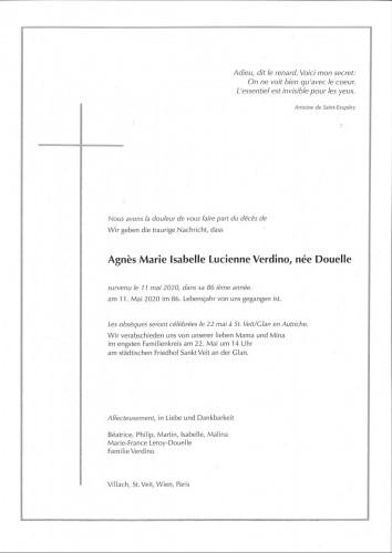 Agnes Marie Isabelle Lucienne Verdino