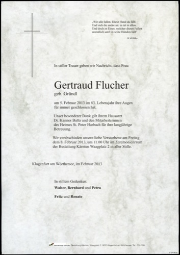 FLUCHER Gertraud