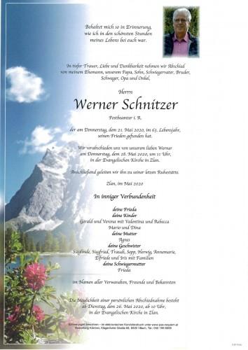 Werner Schnitzer