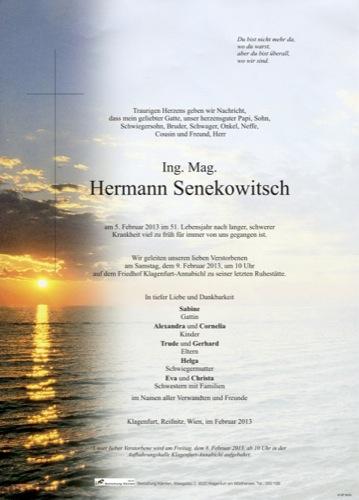 SENEKOWITSCH  Hermann
