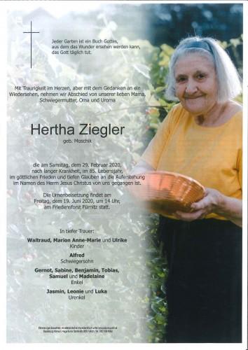 Hertha Ziegler geb. Moschik