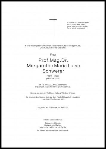 Prof.Mag.Dr. Margarethe Schwerer