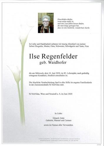 Ilse Regenfelder  geb. Waidhofer