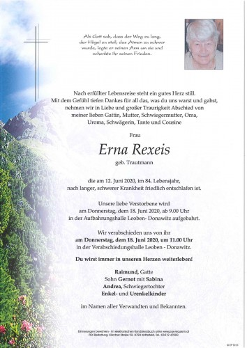 Erna Rexeis geb. Trautmann