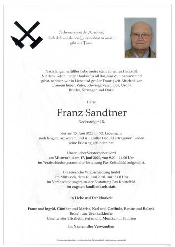 Franz Sandtner